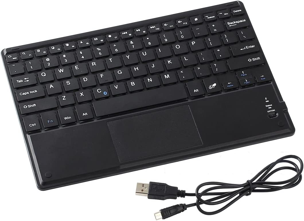 Touchpad for Windows Android Mac YOUKITTY Slim 10 Wireless QWERTY Bluetooth Keyboard