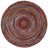 Cheap Brilliant Ribbon Multi Colored (3'x3′) Round Rug