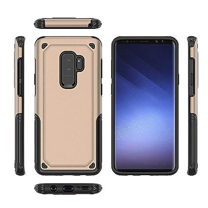 cowx Tel/éfono M/óvil para Samsung Galaxy S9/Plus Carcasa Piel Flip Case Carcasa para Samsung Galaxy S9/Plus Funda Cover 5/tarjetas/ Galaxy S9/Plus m/óvil /Negro