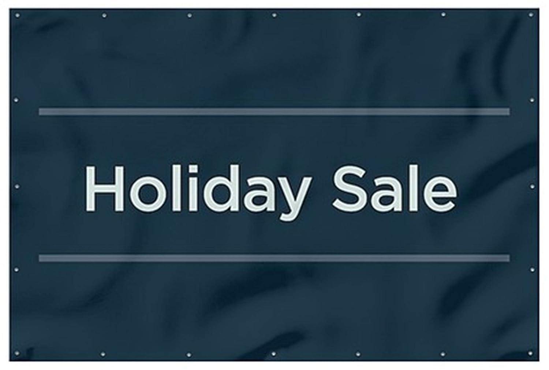 CGSignLab Holiday Sale Basic Navy Heavy-Duty Outdoor Vinyl Banner 12x8