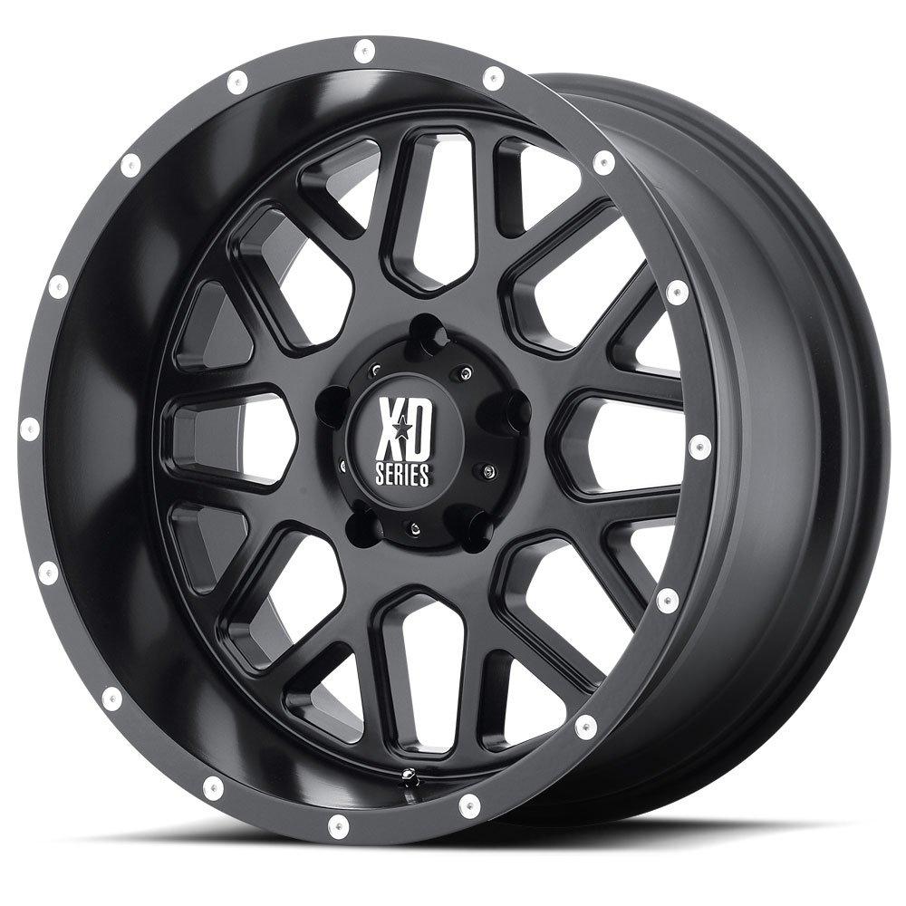 XD Series by KMC Wheels XD820 Grenade Satin Black Wheel (17x8.5''/5x127mm, 00mm offset)
