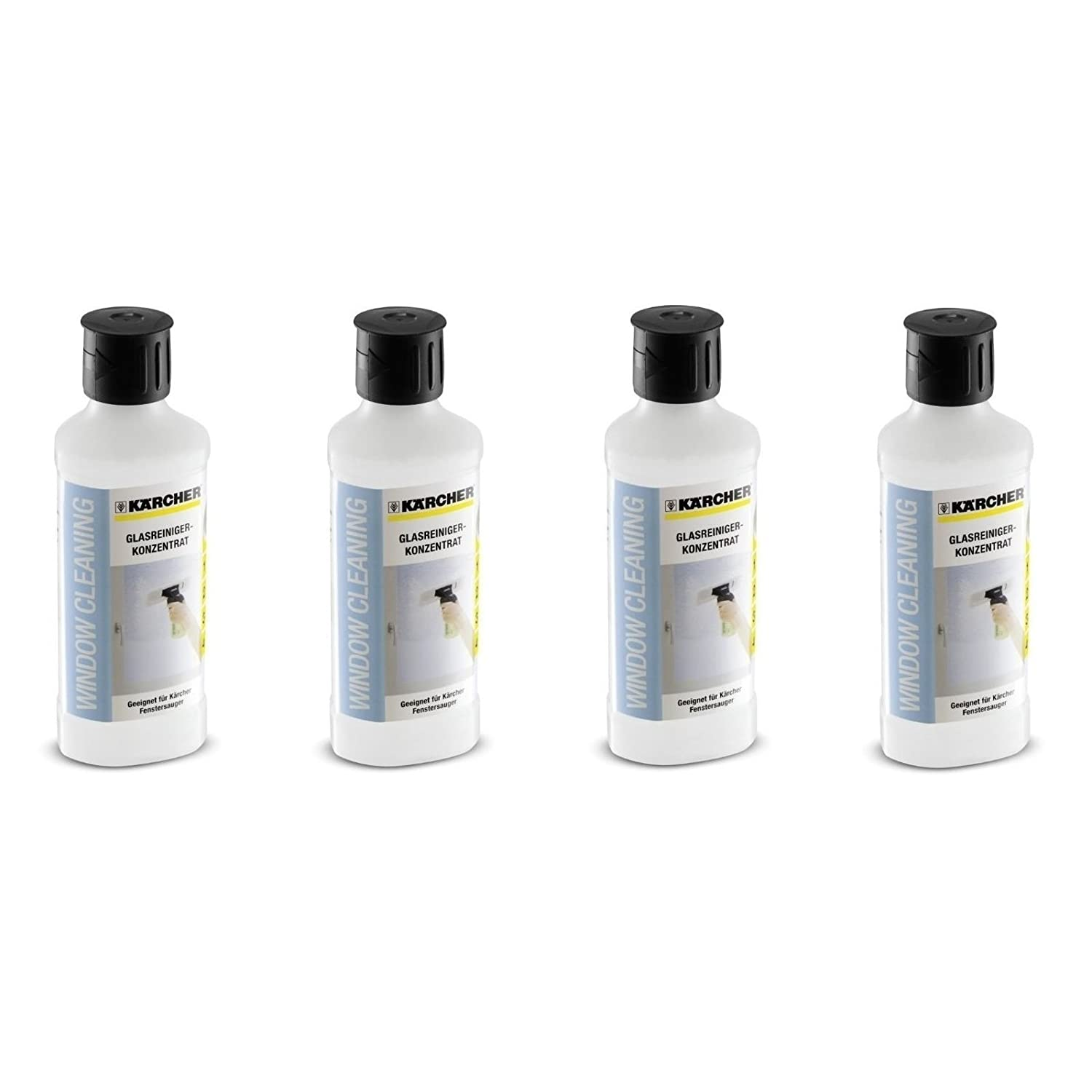 4 x Kärcher 500ml Glass Cleaning Concentrate For Window Vac