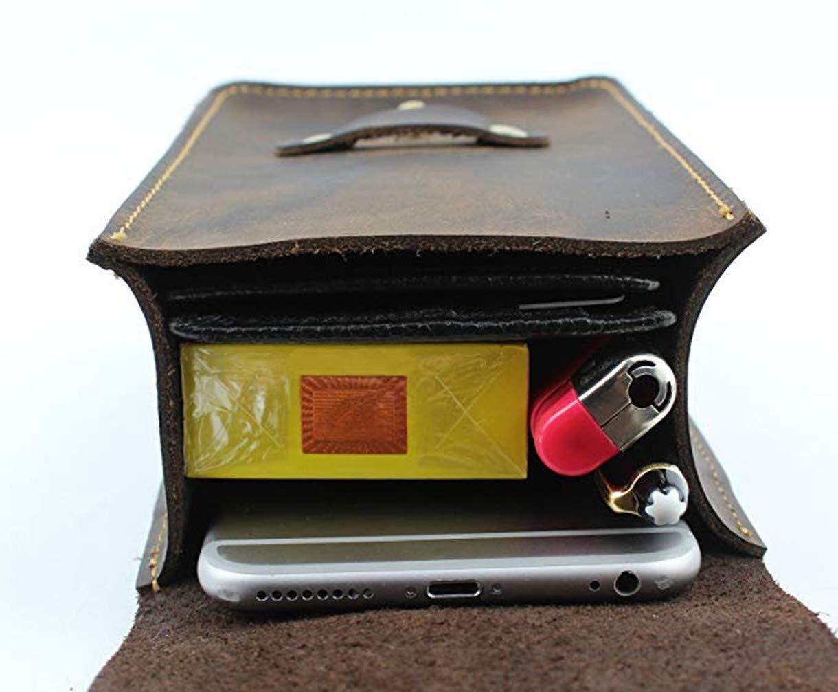 dream/_light Mens Genuine Leather Fanny Pack Waist Bag Belt Phone Pouch Bum Bags for Men Vintage Travel Leisure Sport Waist Pack