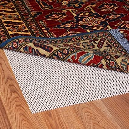 Grip-It Super Stop Cushioned Non-Slip Rug Pad for Rugs on Hard Surface Floors 8 by 11-Feet Natural MSM Industries SN8X11