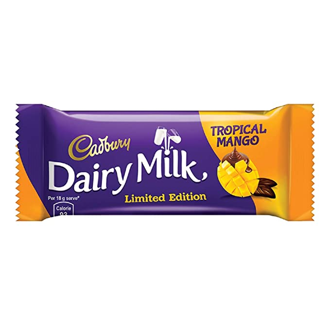 Cadbury Dairy Milk Tropical Mango Chocolate Bar, 36 gm Pack