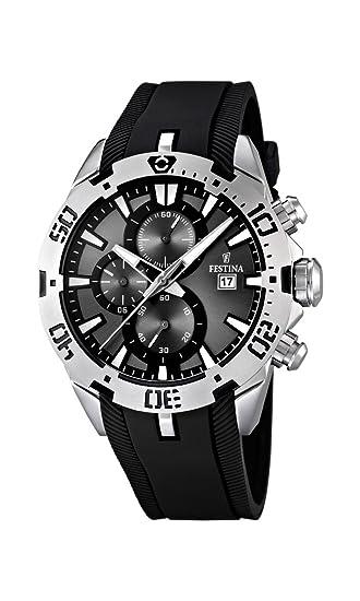 Festina F16672/2 - Reloj cronógrafo de Cuarzo para Hombre con Correa de Caucho, Color Negro: Festina: Amazon.es: Relojes