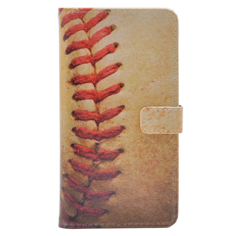 Baseball Vintage Retro Pattern Leather Wallet Credit Card Holder Pouch Flip Stand Case Cover For Apple iphone 6 Plus ,5.5-inch iphone 6S Plus