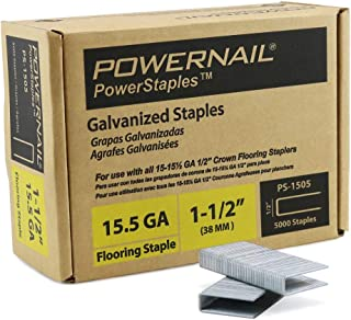 "product image for Powernail PowerStaple 15.5ga 1-1/2"" Flooring Staple. 5000ct"