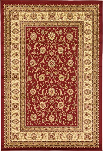 Unique Loom Voyage Collection Traditional Oriental Classic Red Area Rug (6' x ()