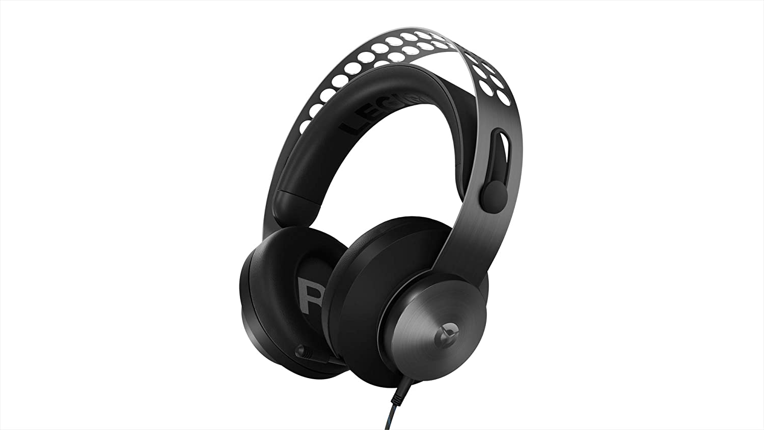 Lenovo Legion H500 PRO 7.1 Surround Sound Gaming Headset, Noise-Cancelling Mic, Memory Foam & PU Leather Earcups, Stainless Steel Headband, PC, PS4, Xbox One, Nintendo Switch, GXD0T69864, Black