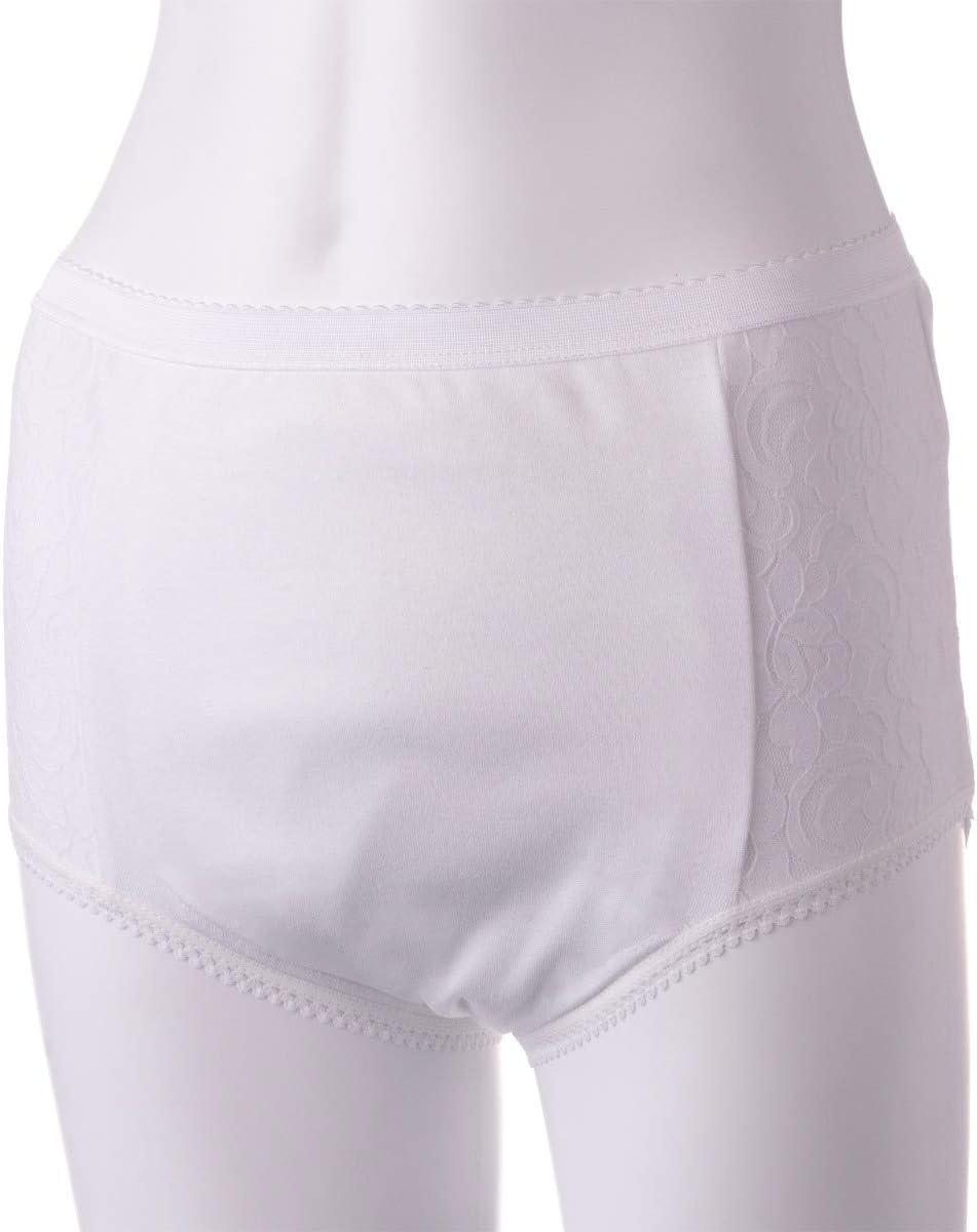 Ladies Inco-Elite Lace Full Brief Super Incontinence Pants for Women Ladies Incontinence Pants Black, Medium