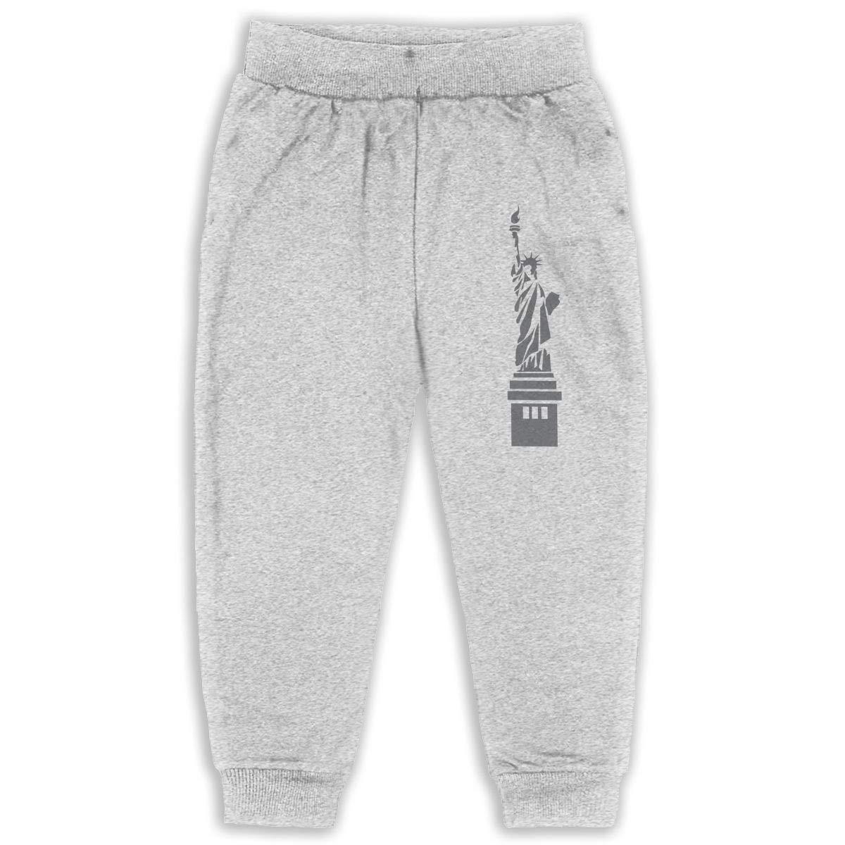 DaXi1 Statue Sweatpants for Boys /& Girls Fleece Active Joggers Elastic Pants