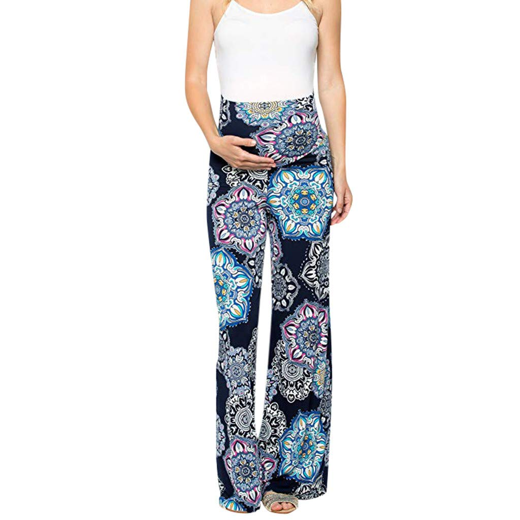 Maternity Pants Womens Maternity Floral Easy Pants ...