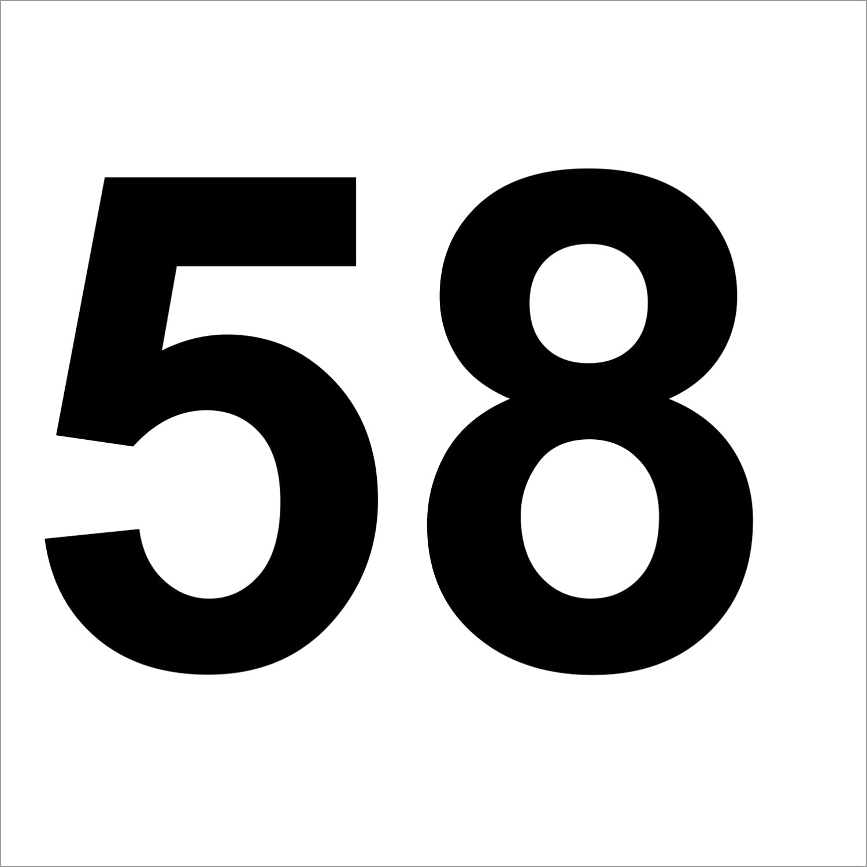 wetterfest H/öhen 50mm Zahlenaufkleber Nummer 79 Aufkleber mit Zahlen in vielen Farben hoch rot 5cm