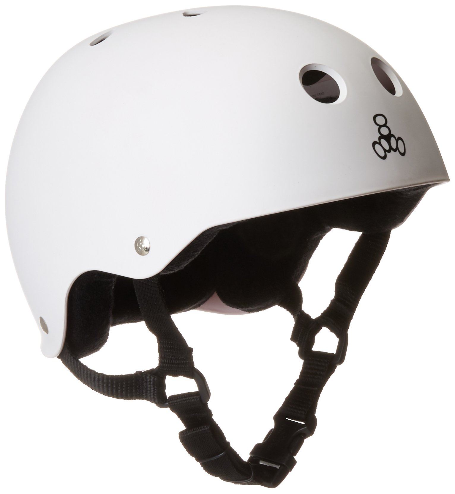 Triple Eight Helmet with Sweatsaver Liner (White Rubber, Medium)