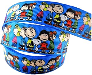 """Charlie Brown and Snoopy 1"""" Wide Repeating Ribbon - Tv and Movie Character Ribbon (10 Yard)"""