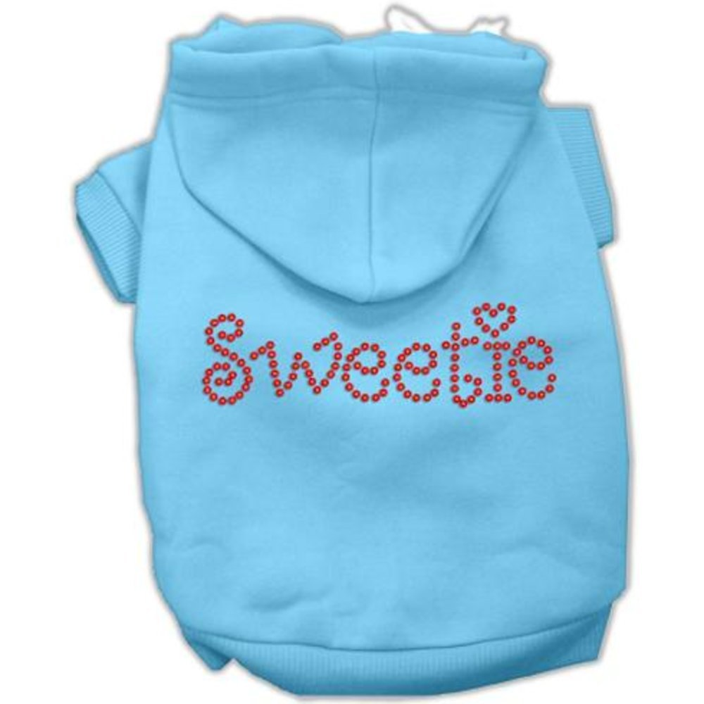 Mirage Pet Products 54-78 LGBBL Sweetie Rhinestone Baby bluee Pet Hoodie, Large