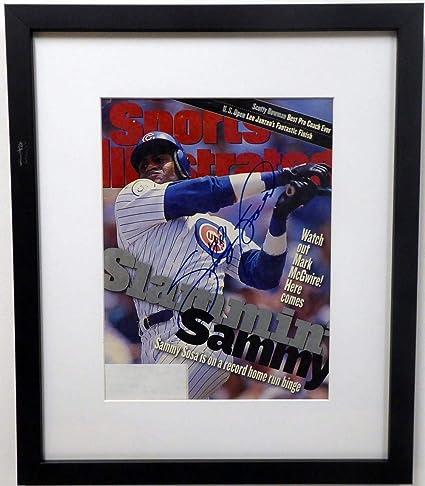b38f0eca0 Sammy Sosa Autographed Framed Sports Illustrated Magazine Chicago ...