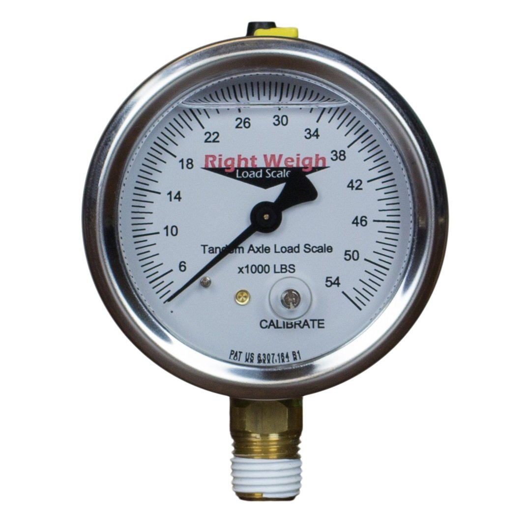250-54-LM (Lower Mount) Tandem-Axle Liquid-Filled Exterior Analog Axle Load Scale - for Single Height Control Valve Air Suspensions by Right Weigh Load Scales