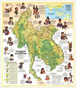 National Geographic Map - The Peoples of Mainland Southeast ...