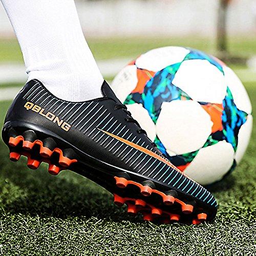 Ag Adulte Football Crampons 45 Athlétisme Top eu35 Chaussures Antidérapant Adolescents High De A Homme Entrainement Enfant Chnhira Profession Spike Noir w0XPxRwq