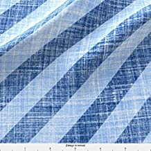 Faux Linen Fabric Faux Linen Bias Trim In Denim Blue by Joanmclemore Printed on Organic Cotton Sateen Ultra Fabric by the Yard by Spoonflower