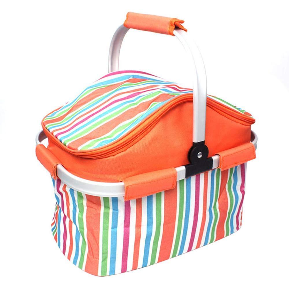 Feste per Picnic CTOBB Colore: Arancione Barbecue Borsa Termica per Picnic
