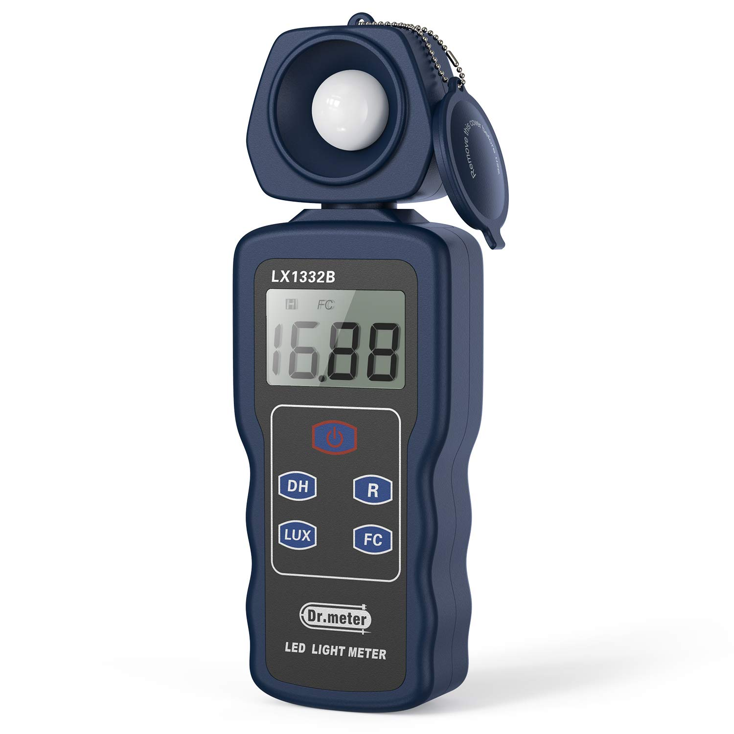 Professional LED Light Meter, Dr.meter 1332B Digital Illuminance/Light Meter with 0-200,000 Measuring Ranges and 270 Degree Rotatable Detector