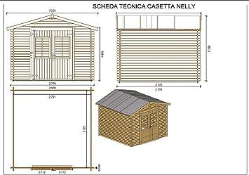 Salone Negozio Online Casa Nelly de Madera nórdica de 295 x 295 x 229 cm con Suelo: Amazon.es: Jardín