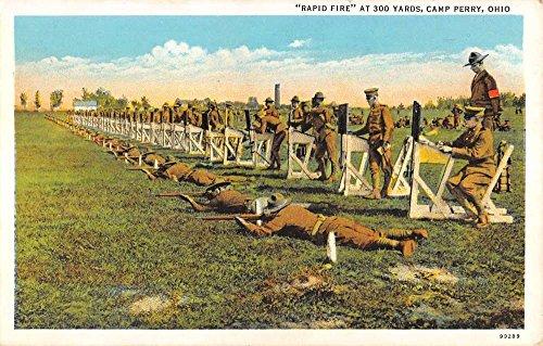 Camp Perry Ohio Rapid Fire Practice Military Antique Postcard K93569