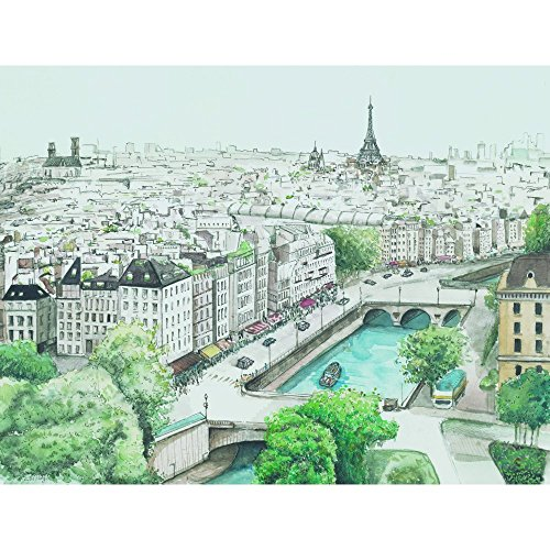 Portfolio Canvas Decor Watercolor Paris by JJ Wrapped Wall Art