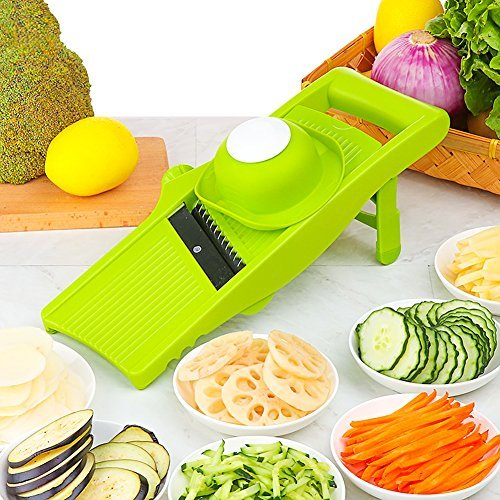 HansGo Mandoline Slicer, Vegetable Slicer Chopper Fruit Cutter Handheld Cheese Grater Potato Onion Slicer