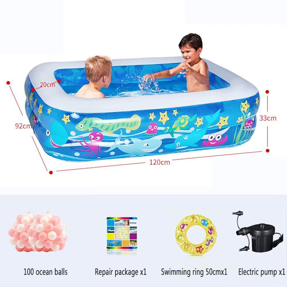 WeißAN-1 Aufblasbarer Pool - 3 gleiche Ringkonstruktion (geeignet für 1-7 Personen) Außengröße  201x150x51cm   Innengröße  261x110x51cm A1
