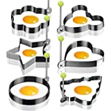 6X Egg Mold Egg Shaper Egg Ring Pancake Molds Egg Mould Stainless Steel Mold Cooking Kitchen Tools