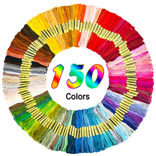 Hohoto Embroidery Thread, Friendship Bracelets Strings, 150 Skeins Embroidery Floss for Cross Stitch kit and DIY Craft
