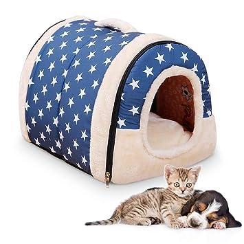 Decdeal Casa del Perro del Animal doméstico 2 en 1 Cómodo Casa para Mascotas y Sofá con un cálido cojín de algodón Casa Cama del Gatos y Perros: Amazon.es: ...