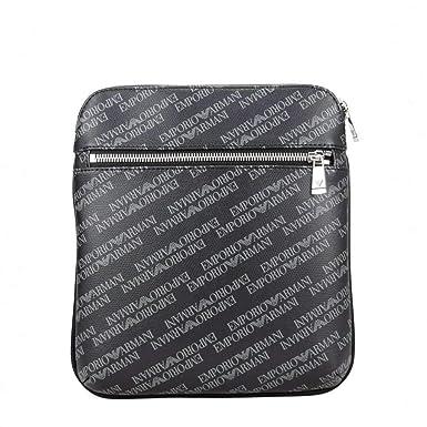 f457d511b EMPORIO ARMANI Logo Print Pouch Black One Size: Armani: Amazon.co.uk ...