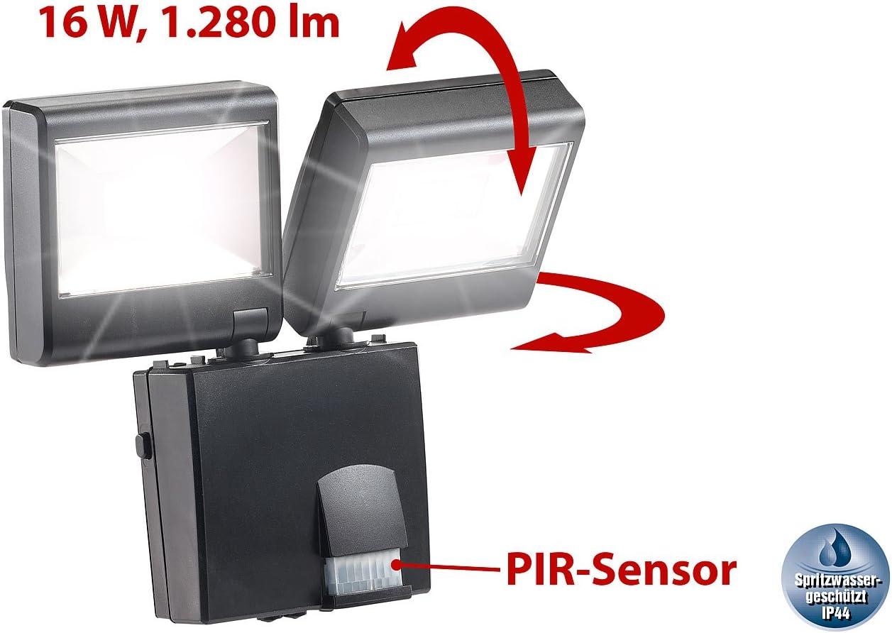 Elro Double Halogène Projecteur Avec Détecteur mvt 2 x 120 W Eckmontage Blanc De