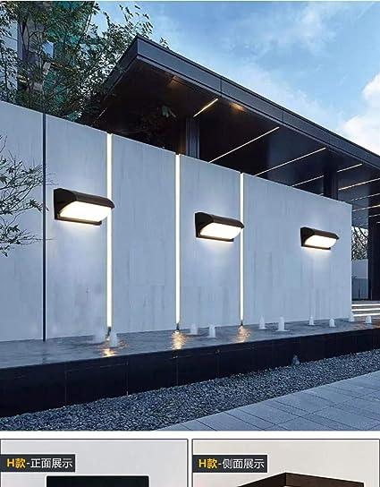 Exterior led moderno exterior puerta pasillo impermeable lámpara de pared jardín escaleras exterior lámpara de pared 30W_E modelos de explosión blanco: Amazon.es: Iluminación
