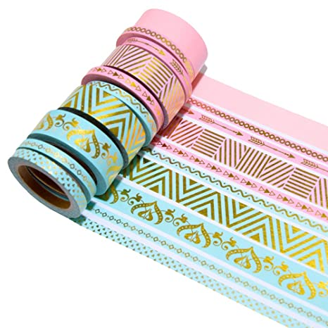 K Limit 10er Set Washi Tape Dekoband Masking Tape Klebeband