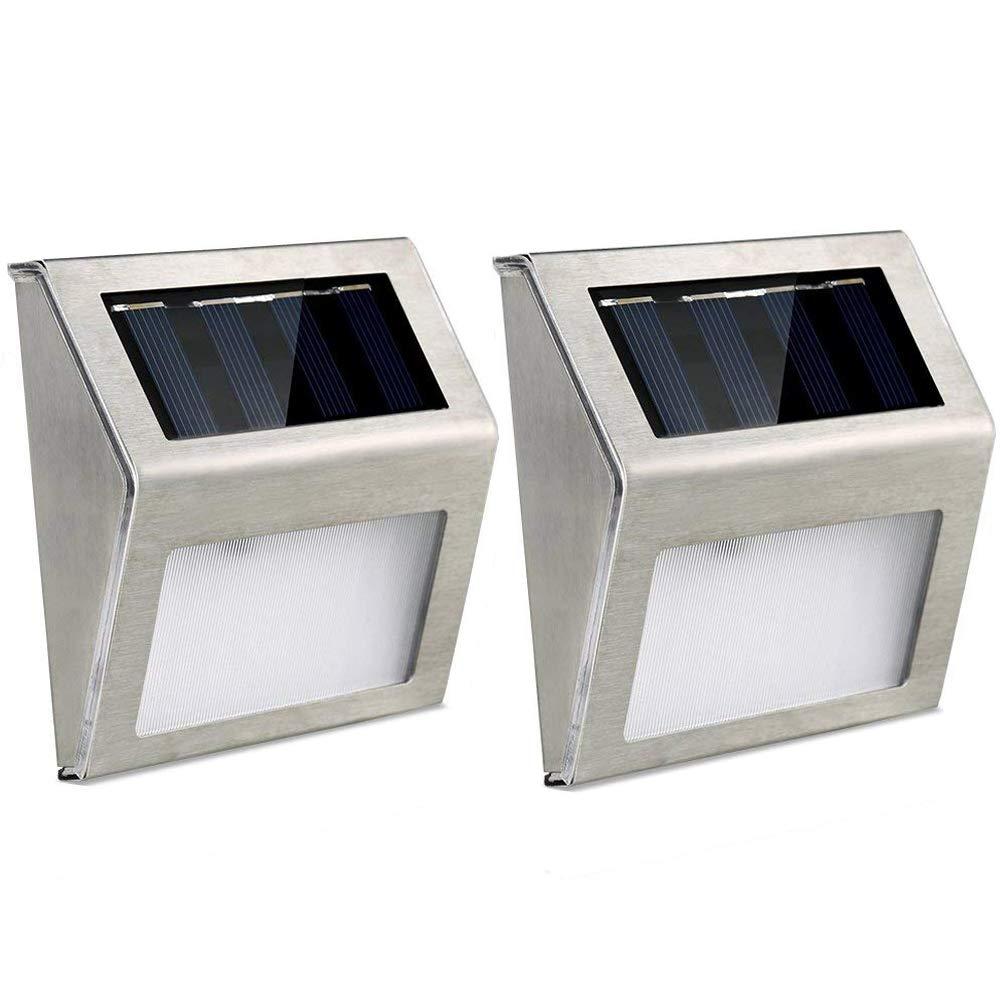 LEDGLE [Lot de 4] Lampe Solaire Extérieur IP65 Étanche Eclairage Murale pour Jardin, Patio, Terrasse, Allée, Cour,Garage
