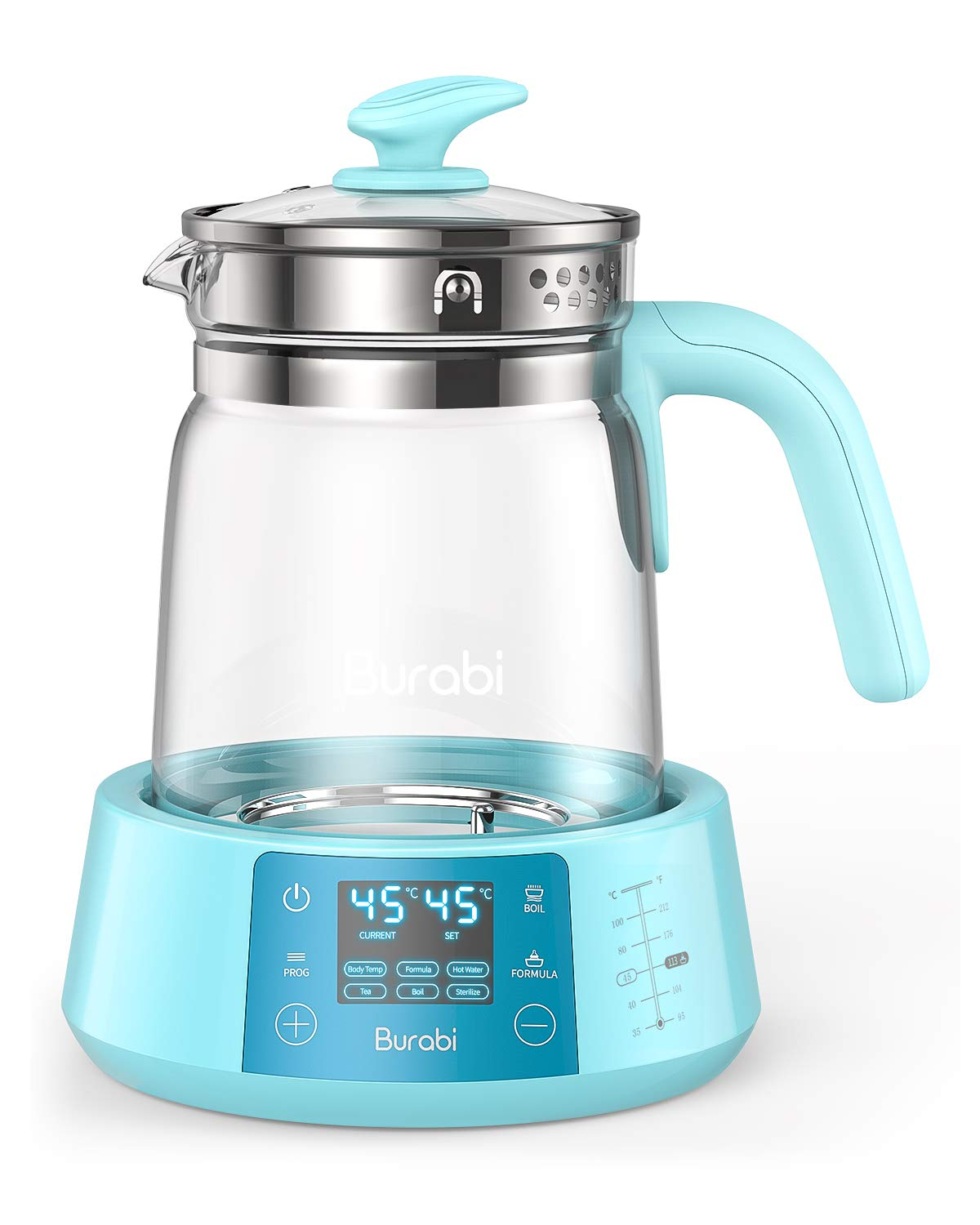 Baby Formula Ready Water Kettle with Precise Temperature Control (Keep Warm 24 Hours at Perfect Temp) Electric Boiler Heater for Night Feeding, Faster Than Bottle Warmer