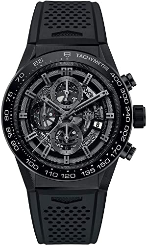 TAG Heuer Carrera Negro Dial de esqueleto 45 mm Hombres del reloj car2 a90. ft6071: Amazon.es: Relojes