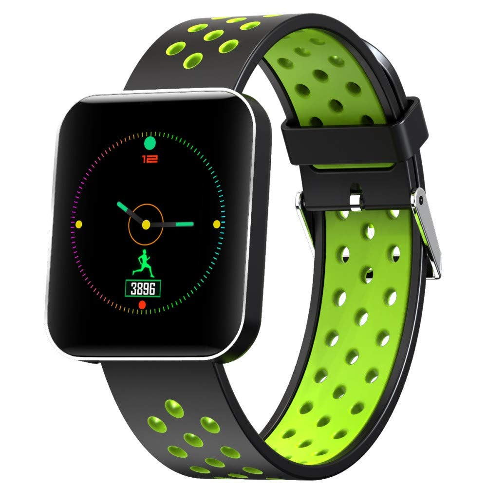 Esharing 1.5inch 32M Multifunctions Smart Wristband Display Sport Armband 24h Motion Monitoring Waterproof Watch for S88 (Green)