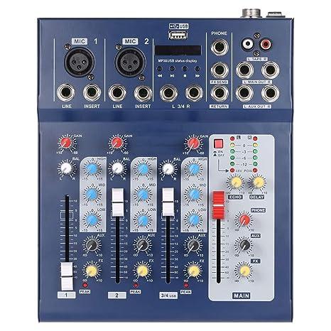Lopbinte F4-USB - Mesa de mezclas (4 canales, digital, con ...