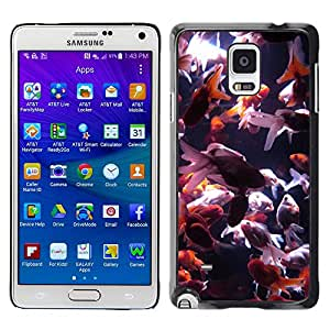 Hot Style Cell Phone PC Hard Case Cover // M99999051 Goldfish // Samsung Galaxy Note 4 IV