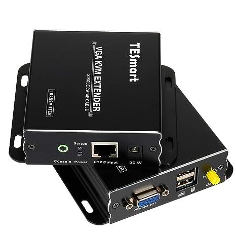 1080P 60Hz 984ft USB VGA KVM Extender Over Cat5e Cat6 Transmitter+Receiver