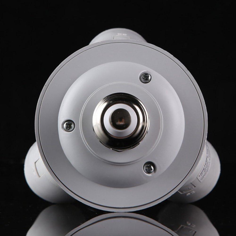 Baoblaze Convertitore di Luce Adattatore per Lampadina 3 in 1 Da E27 a E27 con Splitter LED