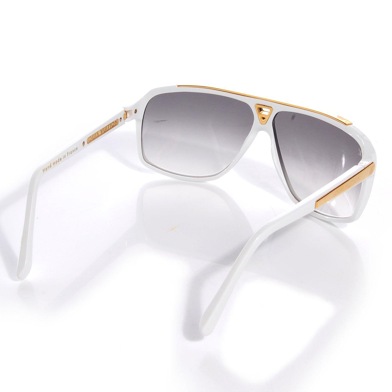 Louis Vuitton pruebas blanco gafas de sol z0351 W: Amazon.es ...