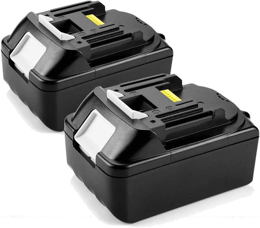 2 baterías de ion de litio de repuesto de 18 V 4,0 Ah para Makita BL1850 BL1840 BL1830 LXT400 para cortacésped Makita, motosierra, soplador de ángulo